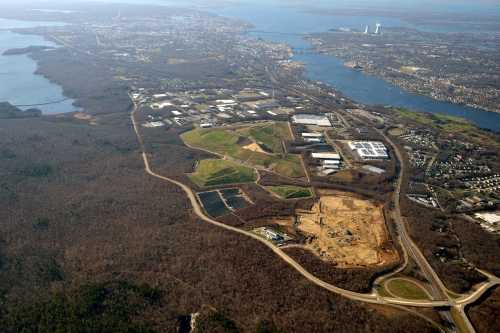 Amazon's site cleared at the Science & Technology Park at Fall River.