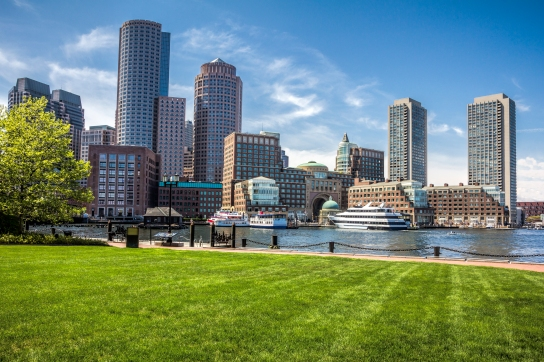 Beautiful view of the city of Boston